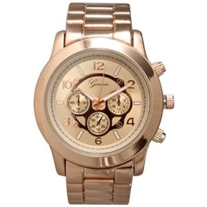 Unisex Rose Gold Watch